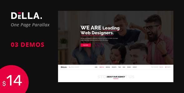 DELLA - One Page Template for digital agency            TFx Arif Hidayat