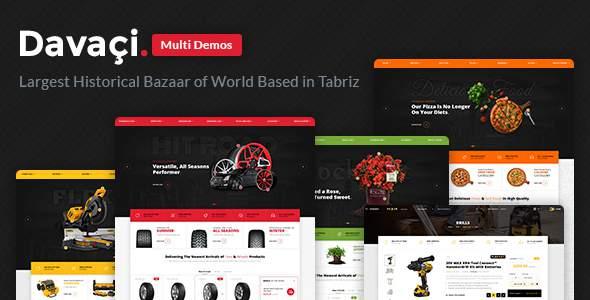 Davaçi – Multi Demo & Multipurpose Ecommerce – PSD Template            TFx Kusuma Kodey