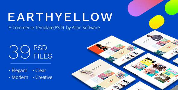 Earthyellow - eCommerce PSD Template            TFx Schuyler Stephen