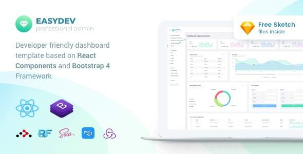 EasyDev — Developer Friendly React Bootstrap 4 Admin Template            TFx Richard Scot