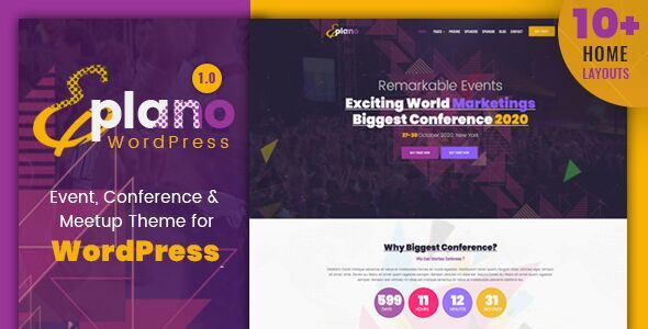 Eplano - Event and Conference WordPress Theme            TFx Dexter Peers