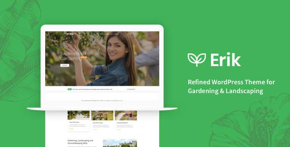 Erik - Refined WordPress Theme for Gardening & Landscaping            TFx Osborn Edvard