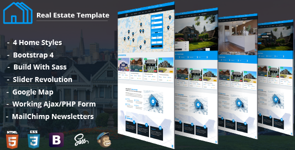 Find Houses - Real Estate HTML Template            TFx Cash Myles