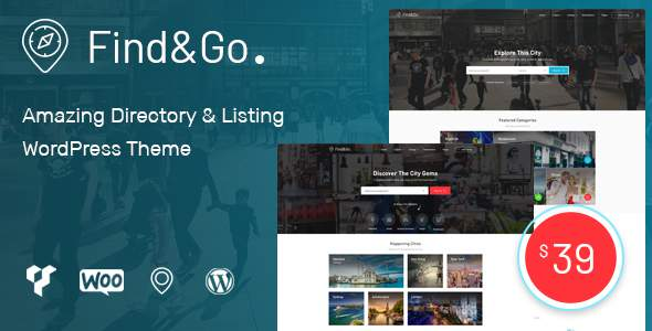 Findgo - Directory & Listing WordPress Theme            TFx Eldon Colton