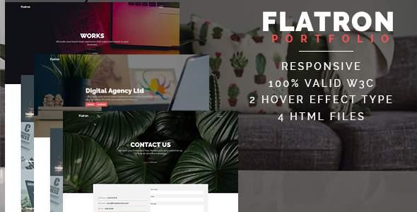 Flatron - Responsive Portfolio HTML Template            TFx Tylar Angus
