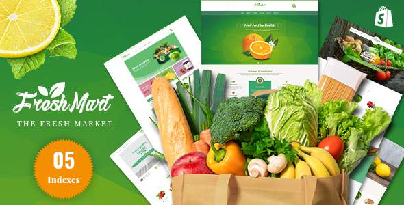 FreshMart – Responsive Shopify Theme, Organic, Fresh Food, Farm Store            TFx Mitch Gerrard