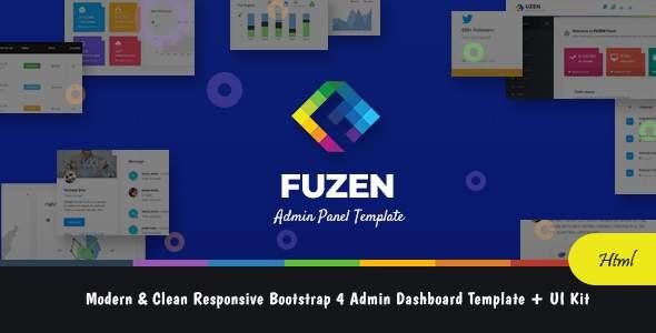 Fuzen – Modern & Clean Responsive Bootstrap 4 Admin Dashboard Template + UI Kit            TFx Katashi Napoleon