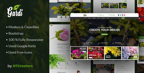 Gardi | Gardening and Landscaping WordPress Theme            TFx Bob Yunuen