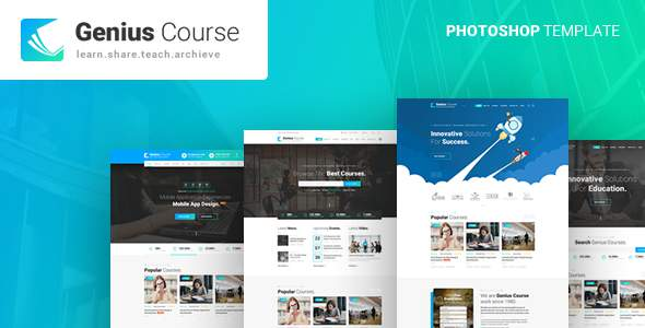Genius - Learning & Course PSD Template            TFx Grayson Lew