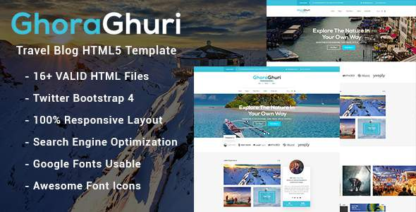 Ghoraghuri Travel Blog HTML Template            TFx Clifford Zane