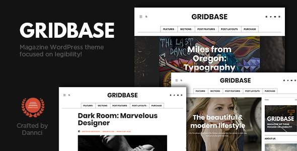 Gridbase - A News and Blog WordPress Theme            TFx Arata Vedast