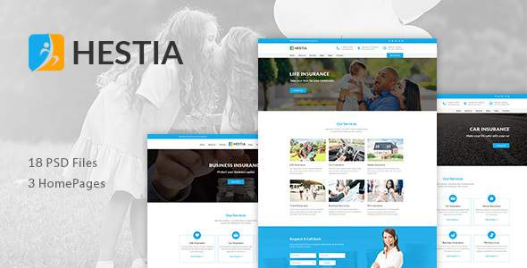 Hestia - Insurance Agency & Business PSD Template            TFx Aylmer Aoi