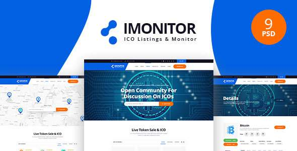 Imonitor - Ico Listing PSD Templates            TFx Irving Franklin