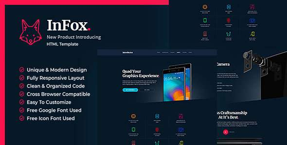 Infox – Mobile Phone Introductory HTML5 Templates            TFx Anselm Timmy