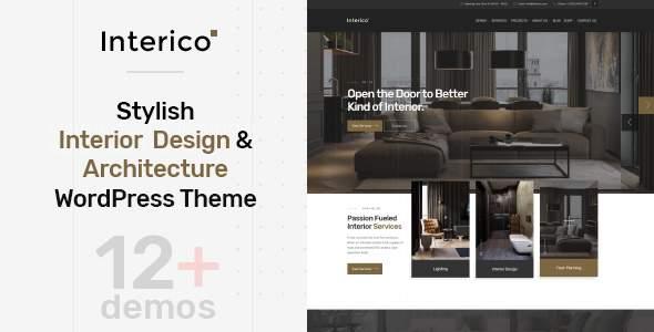 Interico - Stylish Interior Design & Architecture WordPress Theme            TFx Tobias Khajag