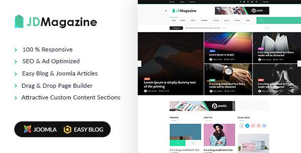 JD Magazine - Best Magazine Joomla Template            TFx Courtney Randy
