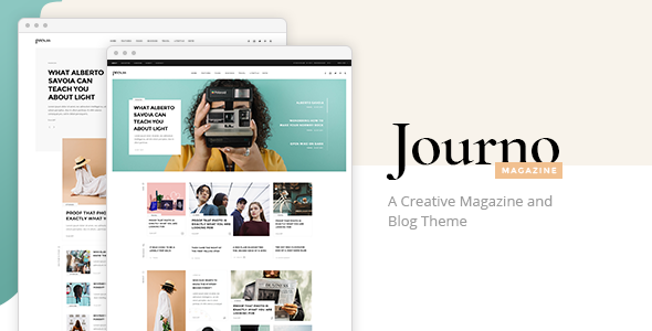 Journo - A Creative Magazine and Blog Theme            TFx Nic Yuuto
