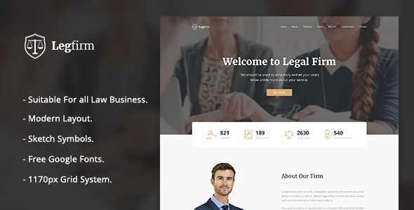 Legfirm - Legal Firm Sketch Template            TFx Mervin Alfred