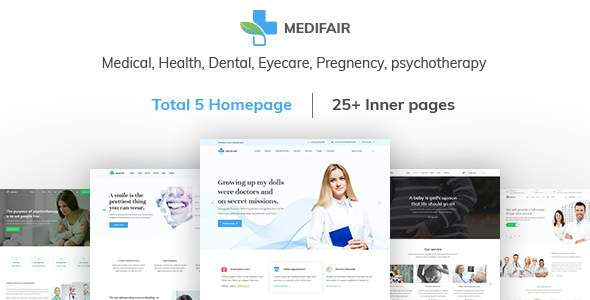 MEDIFAIR - Medical, Health, Dental and Clinical HTML 5 Template            TFx Sinjin Keghart