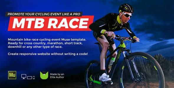MTB Race - Mountain Bike Racing / Marathon / Cycling Event Website Muse Template            TFx Jake Talbot