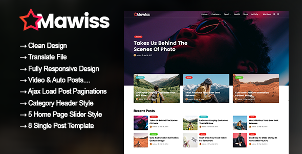 Mawiss - WordPress Blog Magazine Theme            TFx Shota Cavan