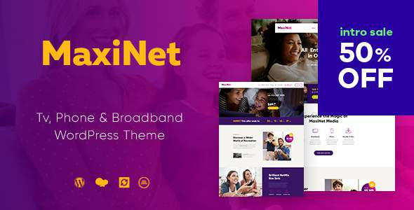 MaxiNet | Broadband & Telecom WordPress Theme            TFx Everett Madison