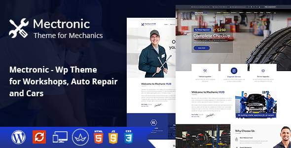 Mectronic - WordPress Theme for Mechanic Workshops, Auto Repair and Cars            TFx Deon Vinnie