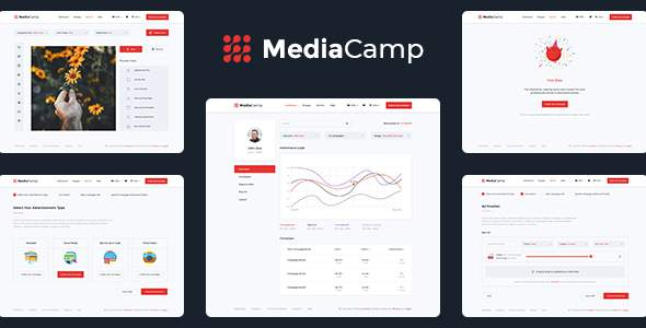 Mediacamp - Online Advertising PSD Template            TFx Camron Pépin
