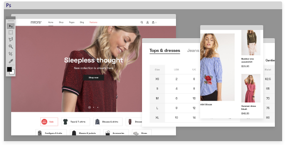 Mercurius eCommerce PSD Template            TFx Mortimer Kester