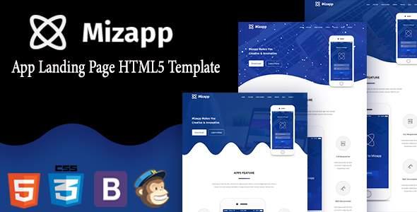 Mizapp - App Landing HTML5 Template            TFx Reginald Randolf