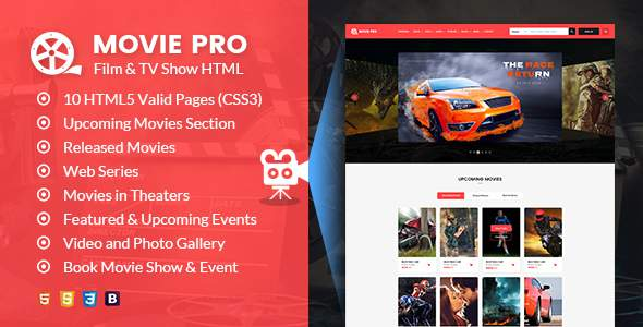 Movie Pro – Film and TV Show HTML Template            TFx Prosper Talako