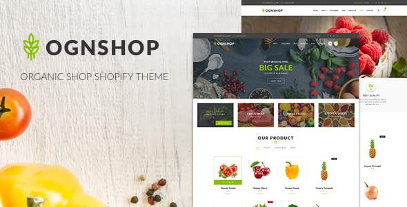 Ognshop – Organic Food & Health Products Shopify Theme            TFx Harry Catahecassa