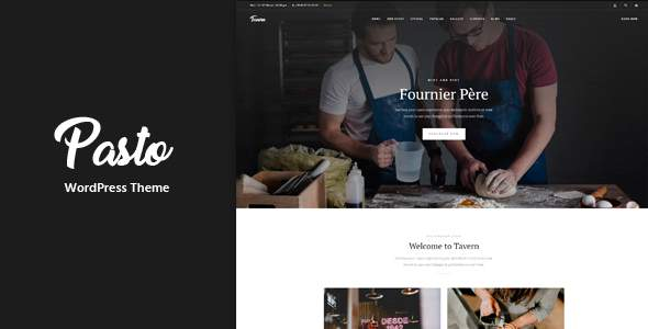 Pasto - Restaurant & Cafe Responsive WordPress Theme            TFx Doug Grosvenor