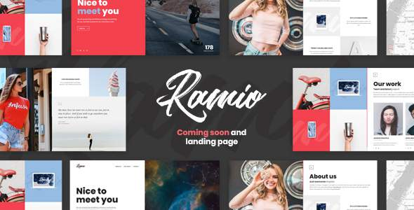 Ramio - Clean Coming Soon and Landing Page Template            TFx Kisecawchuck Jude
