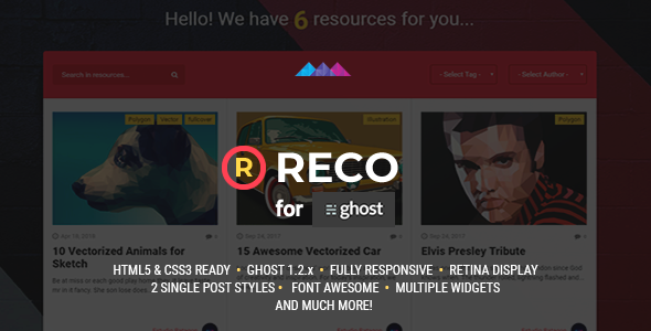 Reco - A recopilatory theme for Ghost            TFx Odeserundiye Meriwether