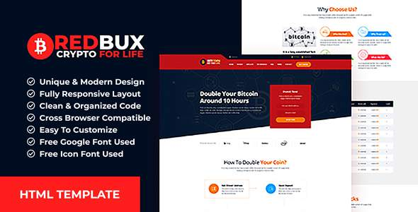 RedBux - Bitcoin Doubler HTML Templates            TFx Layne Chase