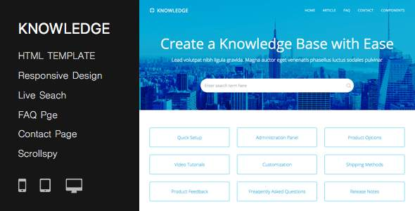 Responsive Knowledge Base & FAQ HTML Template            TFx Fitzroy Barrett
