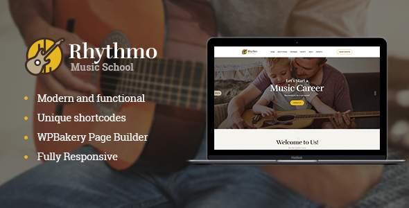 Rythmo | Music School WordPress Theme            TFx Kurou Tanner
