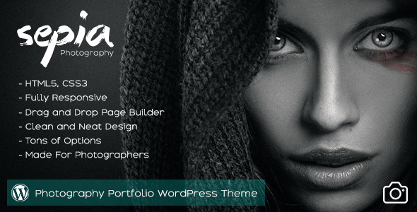Sepia - Photography Portfolio WordPress Theme            TFx Richie Lincoln