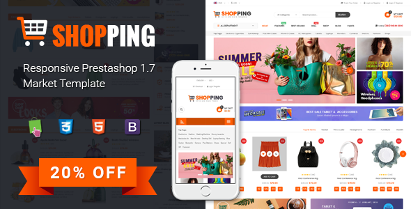 Shopping - Clean Multipurpose Responsive PrestaShop 1.7 eCommerce Theme            TFx Allan Benjamin