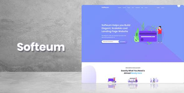 Softeum - Software, App & Product Showcase Landing HTML Template            TFx Bret Darwin