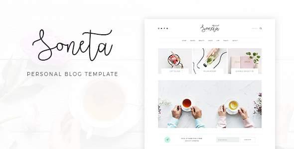 Soneta - Personal Blog PSD Template            TFx Lovel Benjy