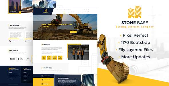 Stone Base | Construction & Building PSD Template            TFx Reuben Frank