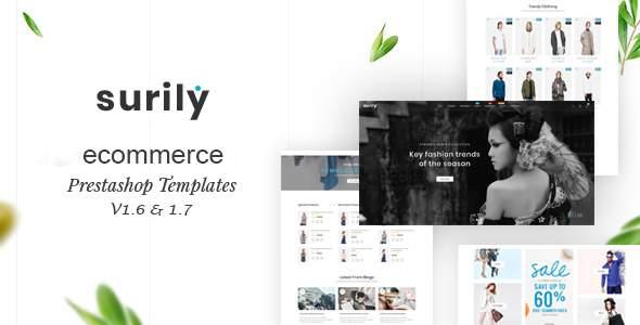 Surily – eCommerce Prestashop 1.7 & 1.6 Responsive Themes            TFx Elijah Trafford