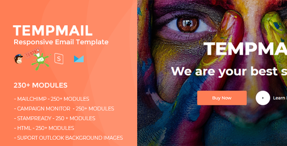 TEMPMAIL – Responsive Email Template (230+ Modules) + Online Stampready Builder            TFx Hartley Warrick