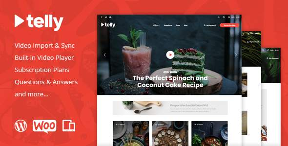 Telly – Video Blogging & Subscription WordPress Theme            TFx Nash Virgil