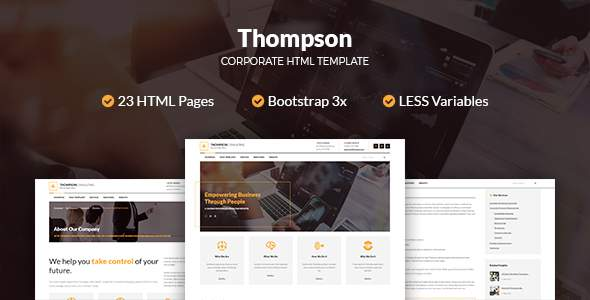 Thompson Corporate HTML Template            TFx Rafferty Goro