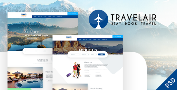 Travelair - Travel & Tours Psd Template            TFx Antony Phoenix
