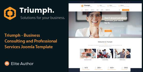 Triumph - Business Consulting and Professional Services Joomla Theme            TFx Ryota Jeffrey