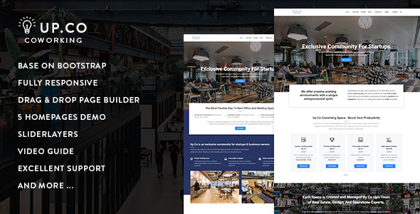 Up.Co - Creative Office Space & Business Drupal 8.5 Theme            TFx Tennyson Ogden